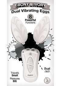 Ebony and Ivory Dual Vibrating Eggs White