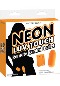Neon Luv Touch Remote Bullet Orange